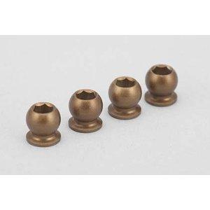 Yokomo hard coat pivot ball for BD7 shock cap (4pcs) B7-S8H