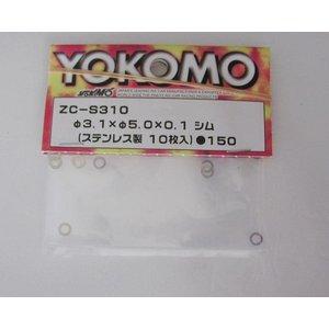 Yokomo shim 3.1x5.0x0.1 (10 st.)  ZC-S310