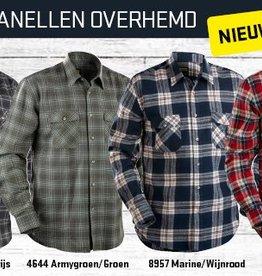 Blaklader 3328 Flanellen overhemd in 4 kleurencombinaties met ruit
