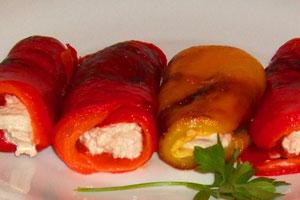 Gevulde paprika met mozzarella en balsamico