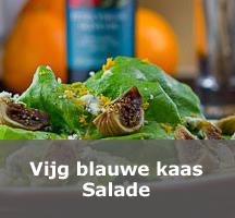 Salade Vijg blauwe kaas en sinaasappel vinaigrette