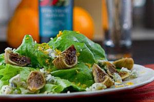 Vijgen blauwe kaas salade