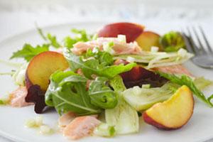 Zalmforel salade met venkel