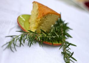 Rozemarijn olijfolie cake