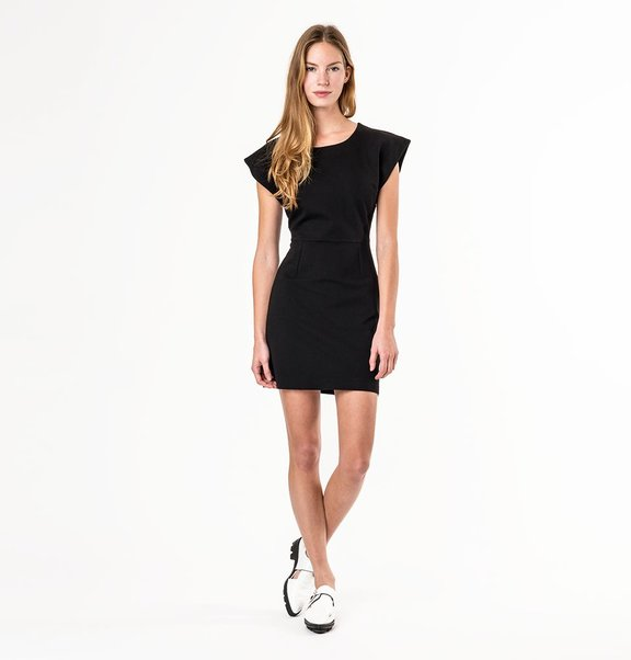 This is Lily Black jersey cocktail dress