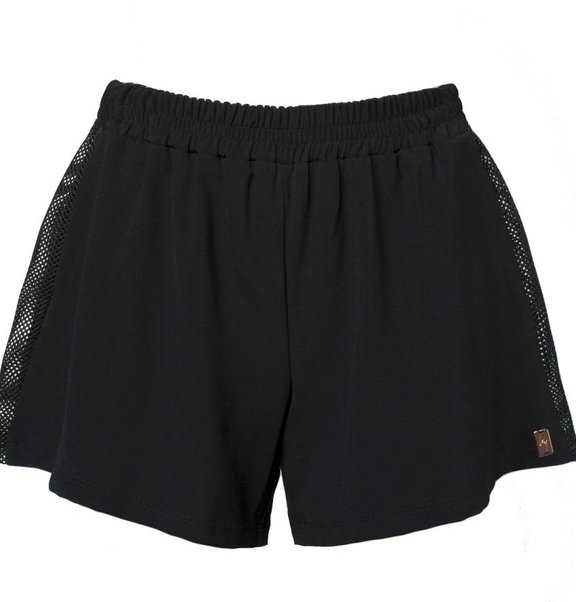 This is Lily Shorts, black with 3D mesh detail