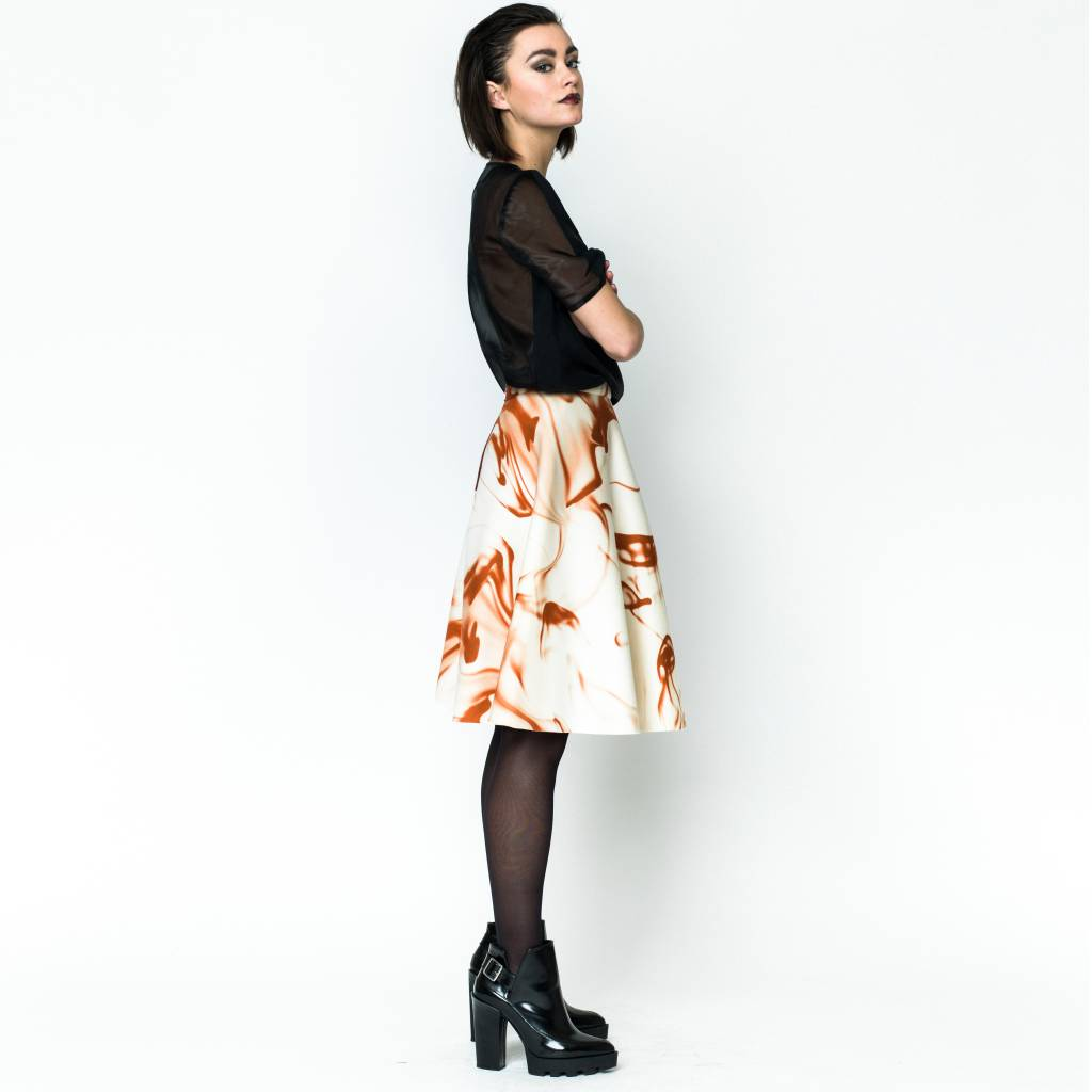 This is Lily Love Injection - Scuba Skirt Blood Print