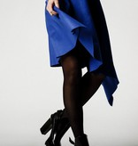 This is Lily Slave To The Rhythm - Asymmetrical Cashmere Wool Midi Skirt Blue