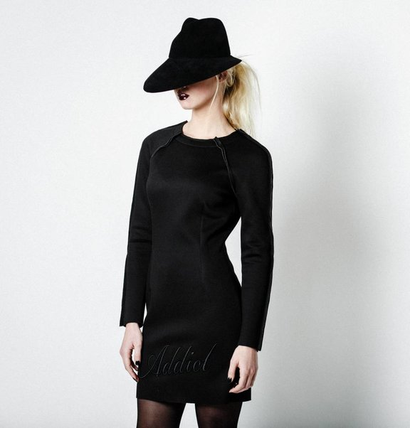 This is Lily Scuba Sweater Dress Black