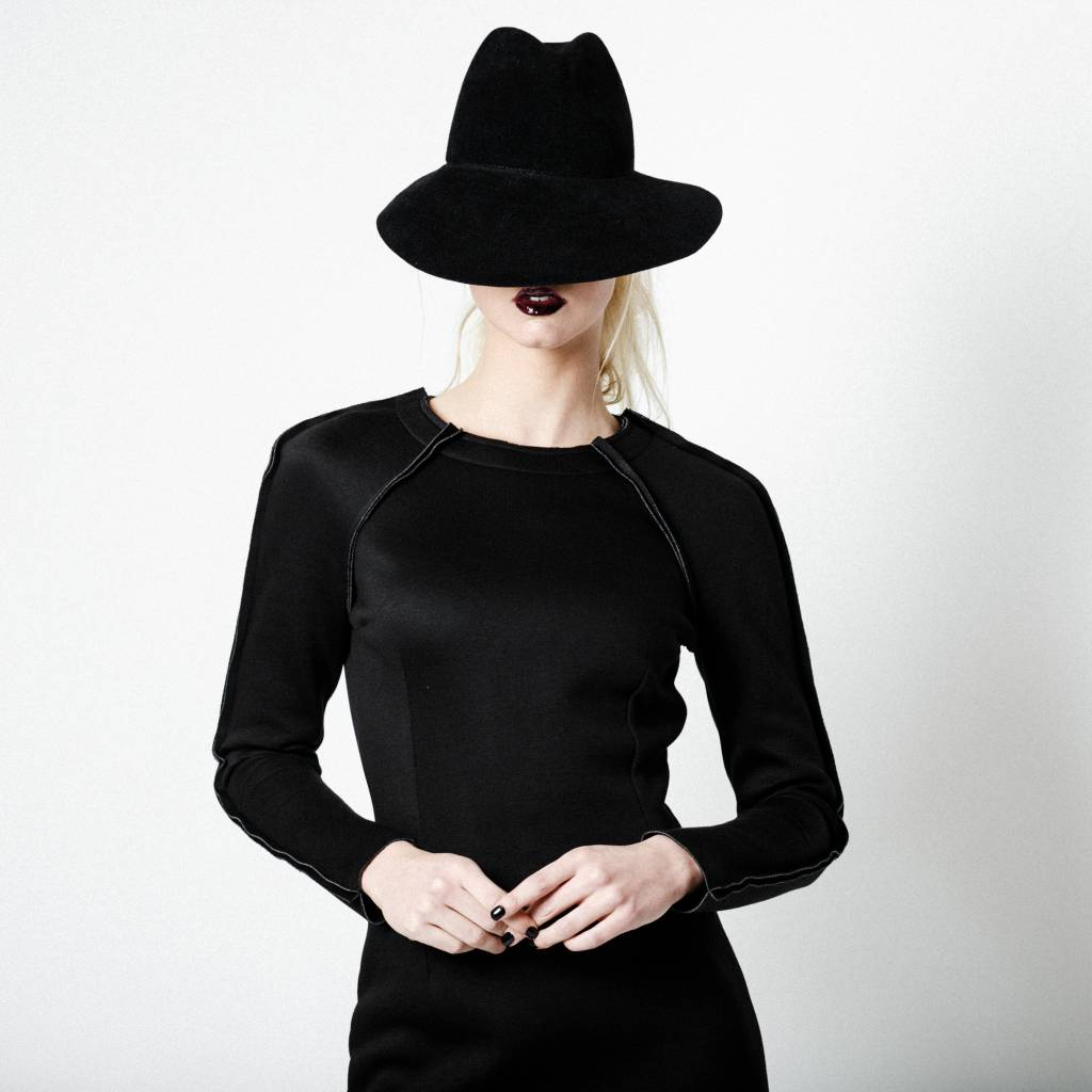 This is Lily Pins & Needles - Scuba Sweater Dress Black