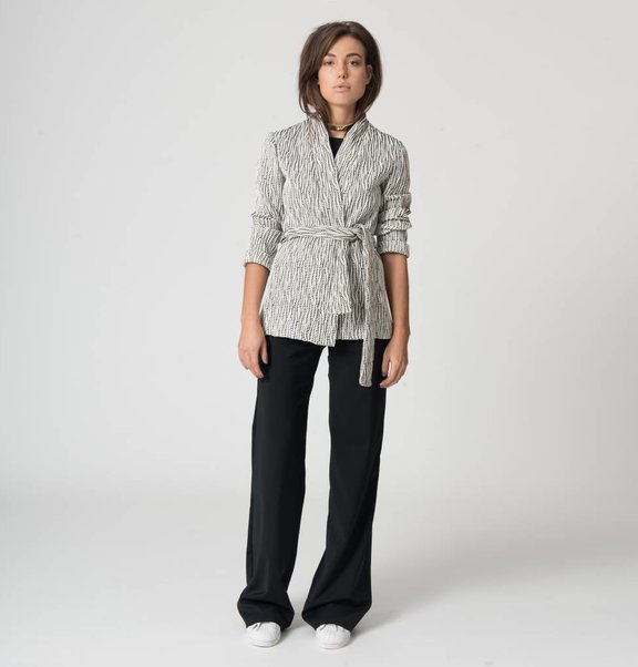 This is Lily Trousers of black wool