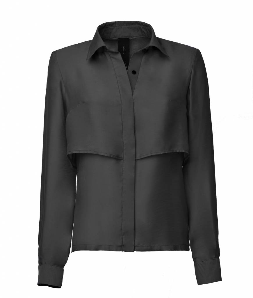 This is Lily Souls For Sale - Viscose-Silk Blouse Black