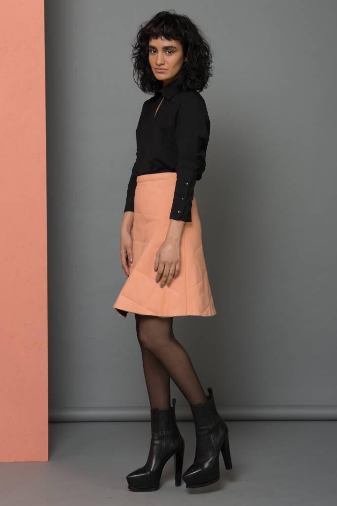 pink wool skirt