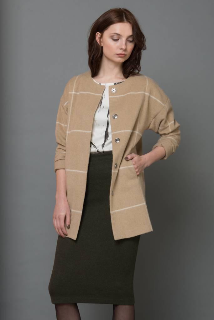 green wool skirt