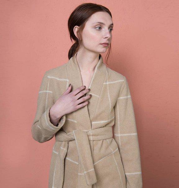 kimono coat / dress Check
