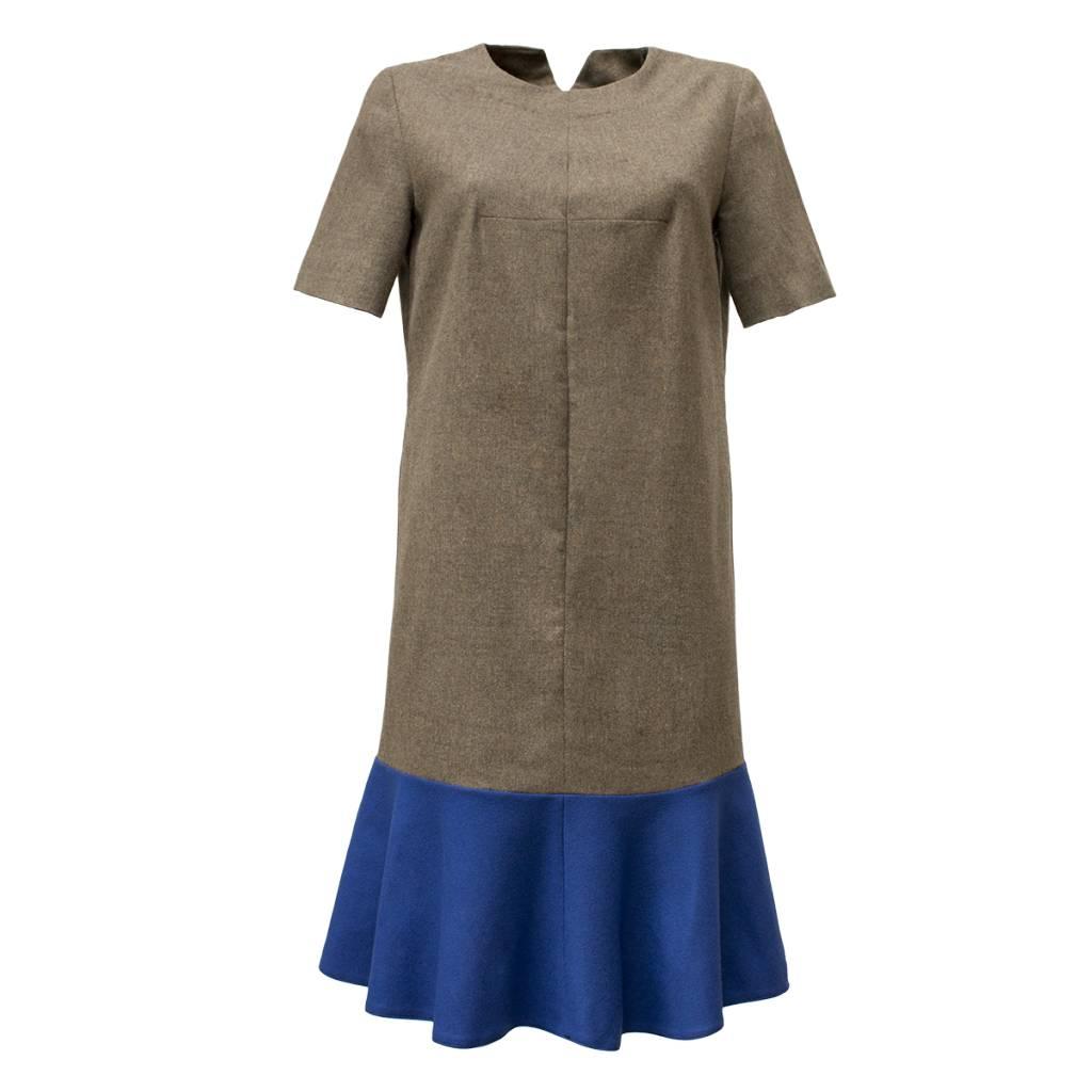 dress with blue bottom