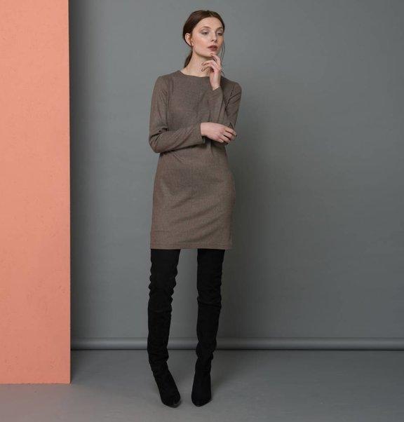 A-line jurk bruin