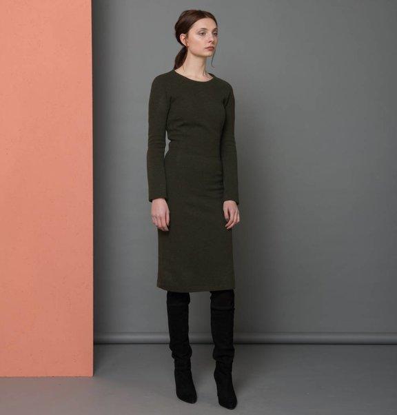 jurk lang groen