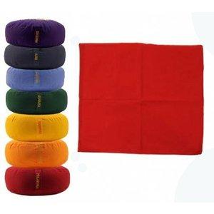 Meditatiemat in verschillende Chakra kleuren