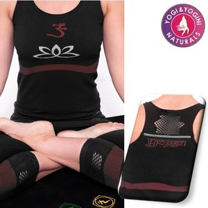 Yogamasti Yoga Top Lotus Zwart