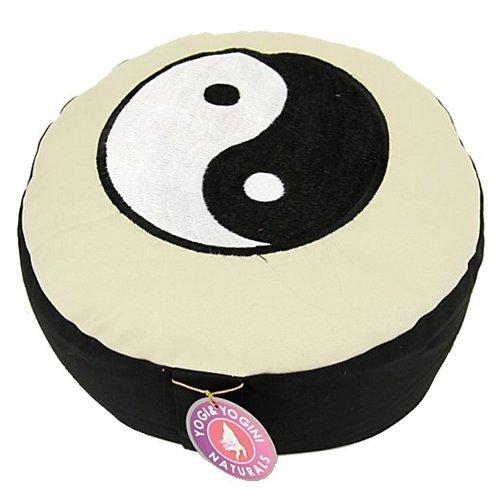 Meditatiekussen Yin Yang Zwart/Wit