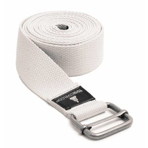YOGISTAR Yoga Riem D-Ring Wit Metaal