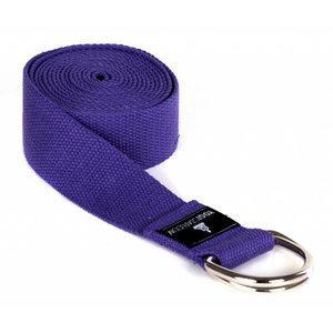 YOGISTAR Yoga Riem D-Ring Violett Metaal