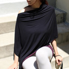 Satya Yoga Wear Yoga Poncho 'Sukha' Zwart S/M