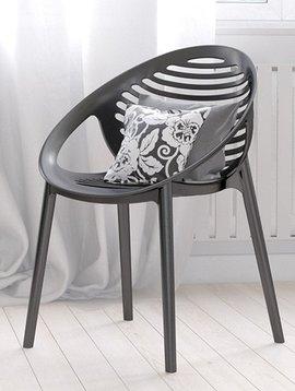 Duverger Coco design - stoel - set van 4 - kunststof - zwart - stapelbaar