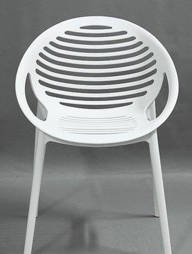 Duverger Coco design - stoel - set van 4 - kunststof - wit - stapelbaar