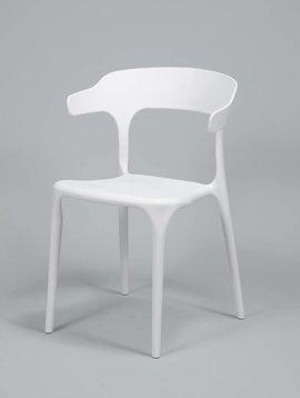 Duverger Curved - Stoelen - set van 4 - kunststof - wit
