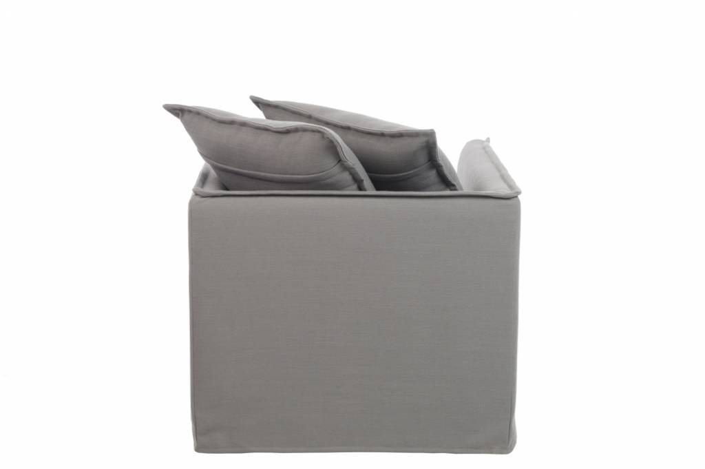 Duverger Cushions - Fauteuil - met kussens - linnen - grijs