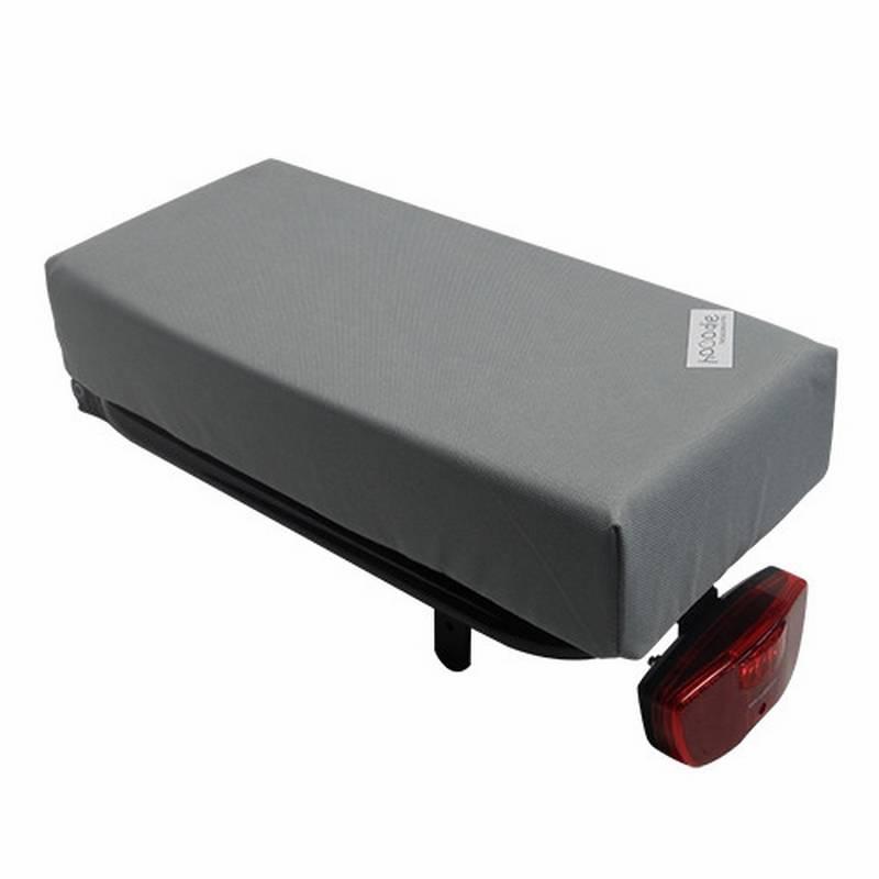 Hooodie Bagagedragerkussen BIG Cushie Silver Solid