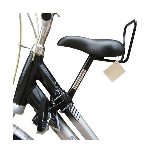 Zadel op Stang voor een Damesfiets met aluminium dubbel frame (Buiszadel)