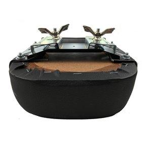 Hooodie Bagagedragerkussen comfort + met rugsteun zwart