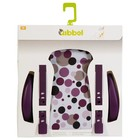 Qibbel stylingset luxe achterzitje dots paars