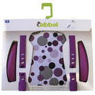 Qibbel stylingset luxe dots paars voorzitje
