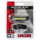 Simson koplamp Line led usb 8 lux