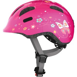 Abus Kinderhelm / Fietshelm Smiley 2.0 pink butterfly Small 45-50