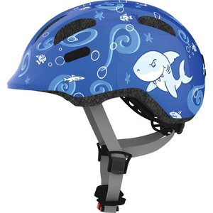Abus Kinderhelm / Fietshelm Smiley 2.0 blue sharky Medium 50-55