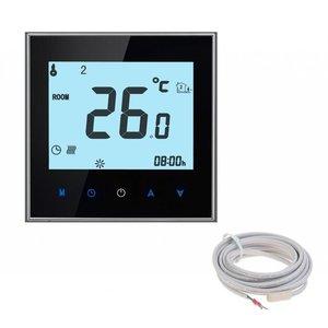100 Watt elektrische vloerverwarming mat set inclusief Soft Touch 7-Daags Programmeerbare thermostaat