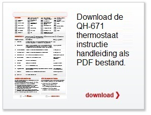 Qh 671 eenvoudige manual thermostaat elektrische vloerverwarming
