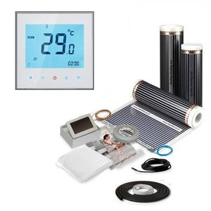 Vloerverwarming folie set inclusief touch screen thermostaat