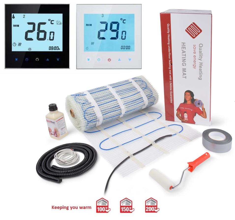 Vloerverwarmingsmatten van Quality Heating - Elektrische vloerverwarming