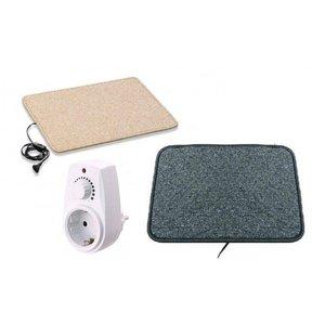 Infrarood warme voeten mat 40x50cm crème of antraciet high-heat 70Watt