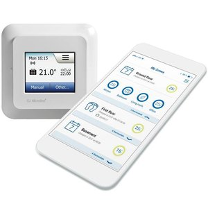 100 Watt elektrische vloerverwarming mat set inclusief OCD5 Wifi oj microline thermostaat