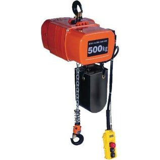Hitachi Elektrische kettingtakels 220 volt 1000 kg.
