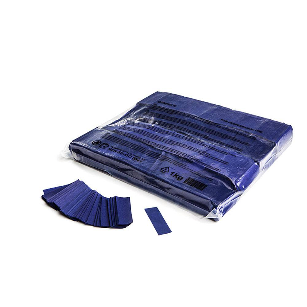 Image of MagicFX Slowfall confetti 55x17mm donkerblauw
