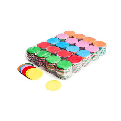 MagicFX Slowfall confetti rondjes 55mm multicolour