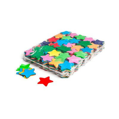 MagicFX Slowfall confetti sterretjes 55mm multicolour